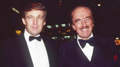 Donald Trump and his father, Fred Trump