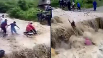 Monsoon flood waters in Nepal
