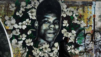 A mural of Yusef Hawkins in Brooklyn, New York.
