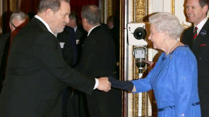 Queen Elizabeth and Harvey Weinstein