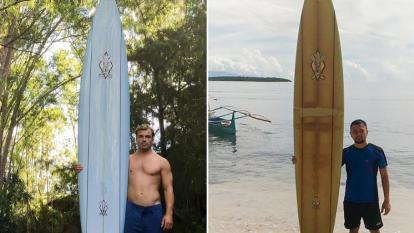 A lost surfboard traveled 5,000 miles.