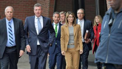 Lori Loughlin exits the John Joseph Moakley U.S. Courthouse after appearing in Federal Court