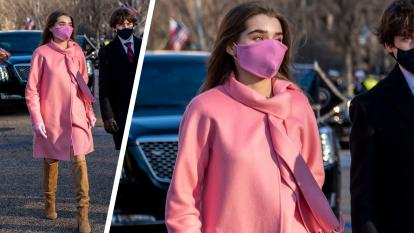 16-Year-Old Natalie Biden Turned Heads With Her Pink Coat