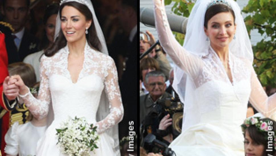 Princess Kate\'s Gown Mirrors Wedding Dress Worn Two Years Ago ...