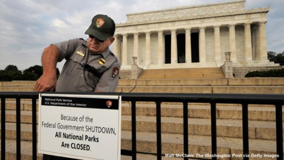 what was shut down in the government shutdown