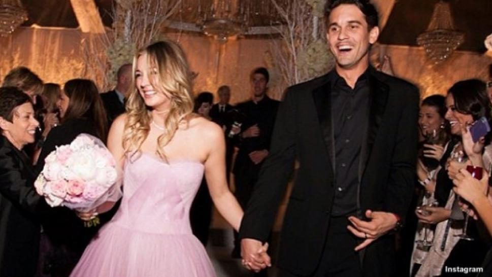Kaley Cuoco Rings In New Year With Pink Wedding