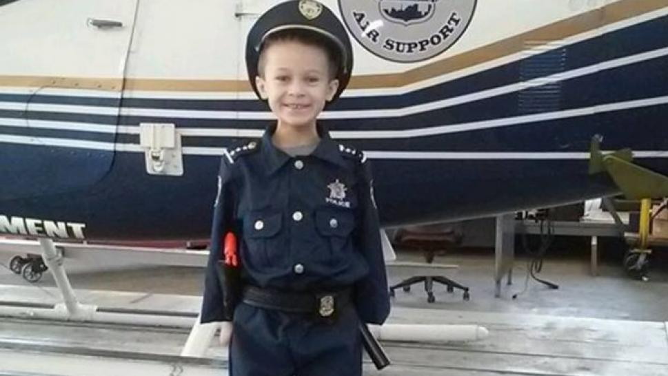 7-Year-Old Boy is Named Police Chief For a Day, Arrests His Dad
