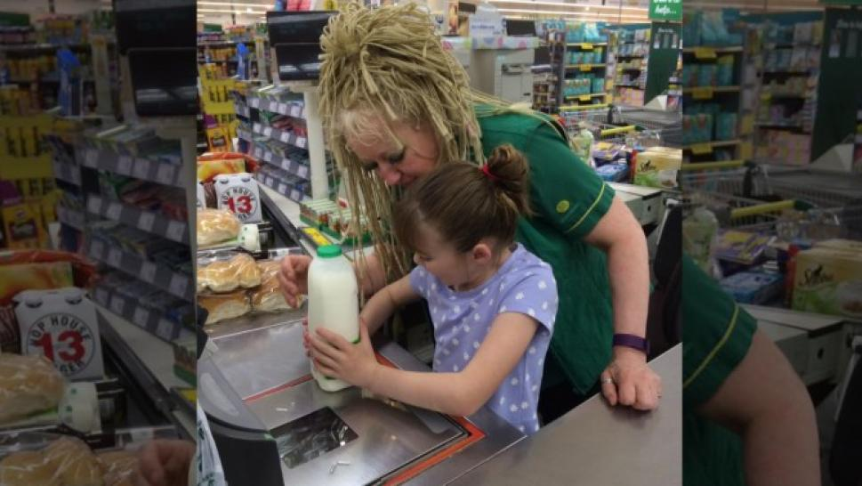 Mom Thanks Store Worker Who Allowed Blind Daughter With