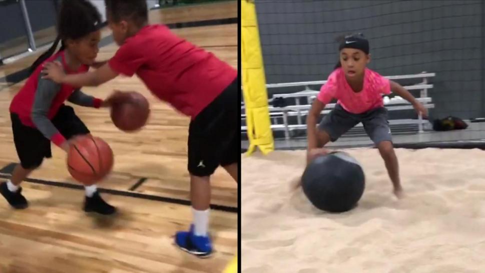 Tween Schools Her Brother on The Basketball Court on Her Birthday