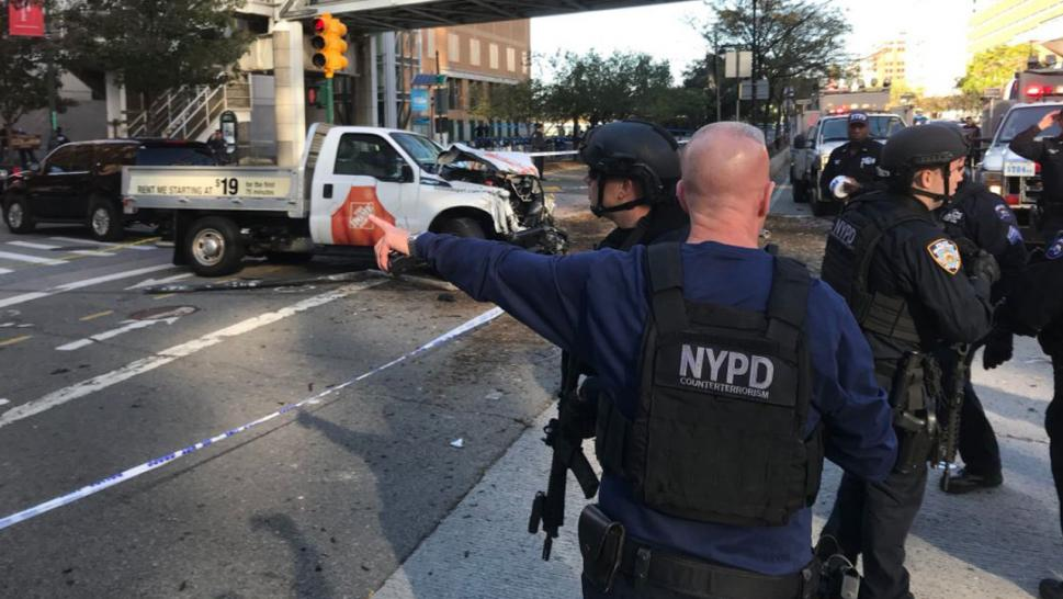 home depot shooting in manhattan with Least 8 Dead New York City Terror Attack After Truck Careens Down Bike Path 37684 on 710997 moreover Shooting Home Depot Store New York City Leaves One Dead additionally Least 8 Dead New York City Terror Attack After Truck Careens Down Bike Path 37684 further Multiple Casualties Reported New York Shooting 1645375 besides Home Depot Employee Shot Supervisor Turned Gun Passed Promotion Dumped Girlfriend.