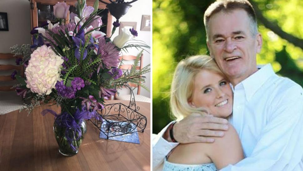 Woman gets birthday flowers from dad years after his death