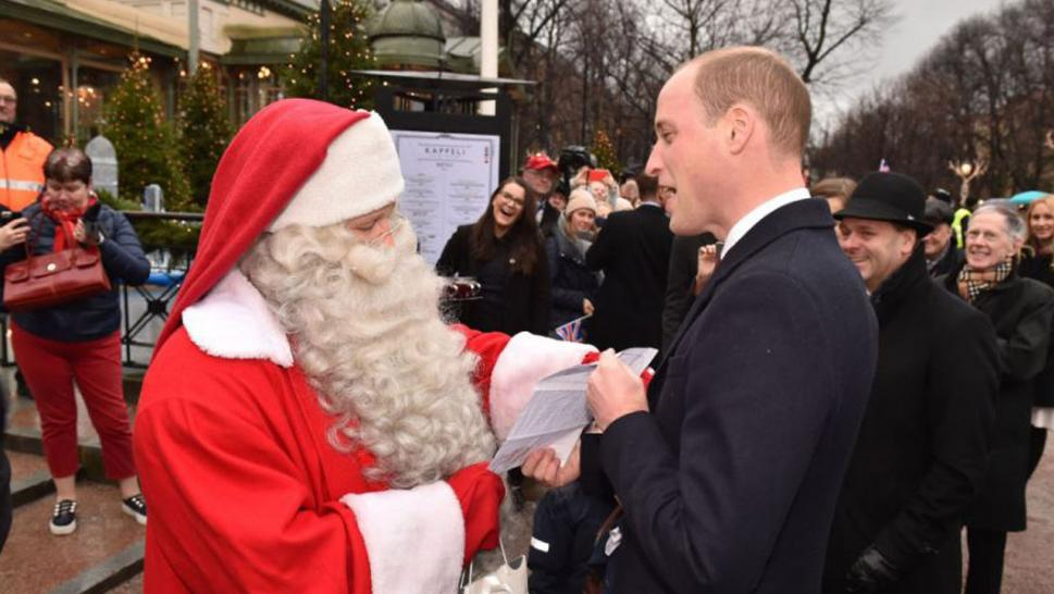 Prince William delivered son George's Christmas list to Santa