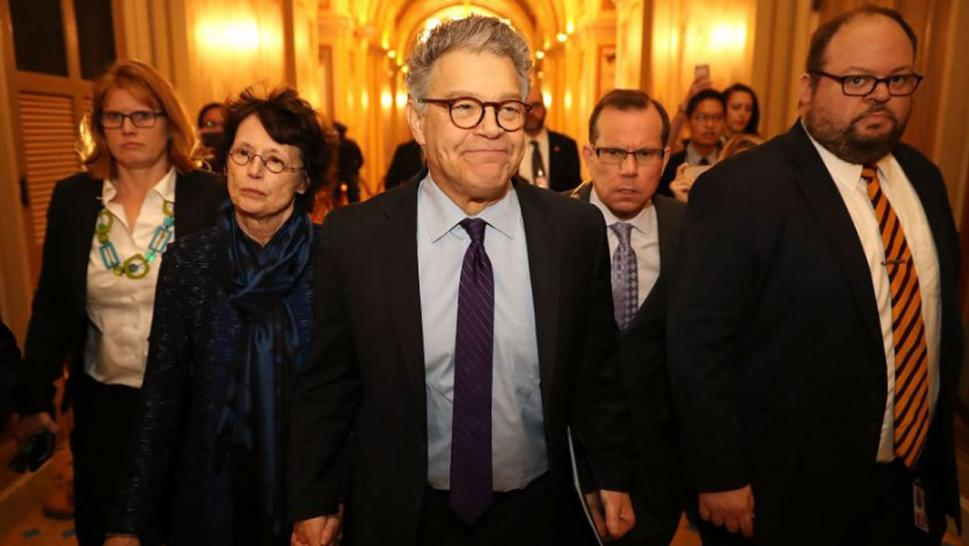 Democratic Sen. Al Franken resigned Thursday.