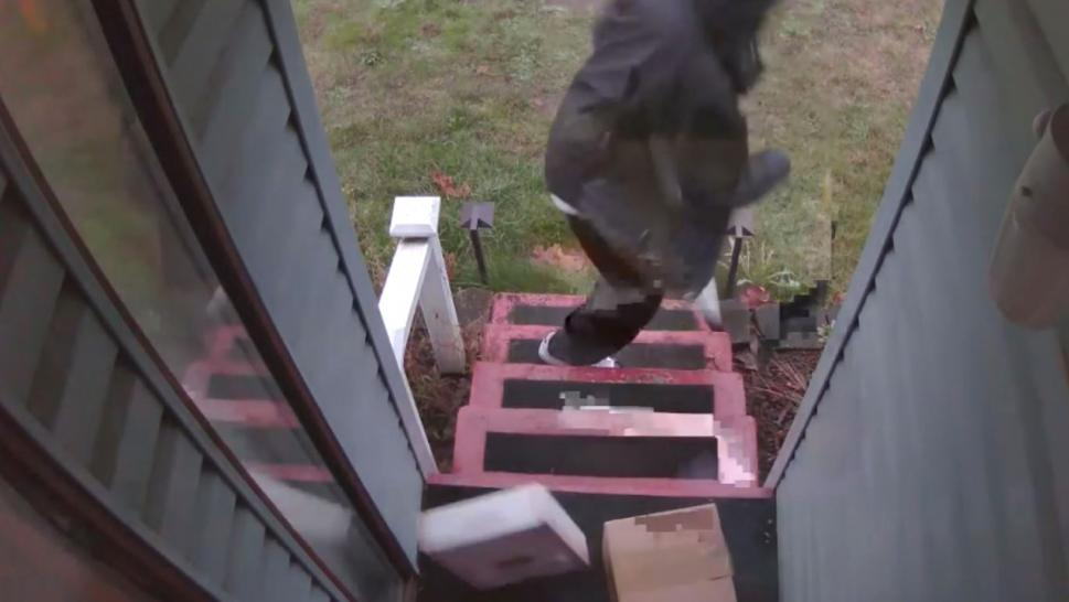 Man Fed Up With Porch Pirates Creates Booby Trapped