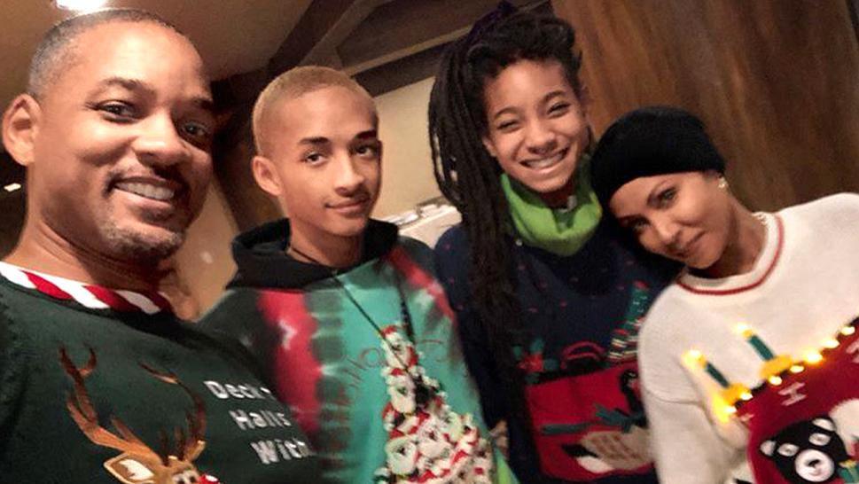 will smith and his family celebrate christmas with a sleigh ride