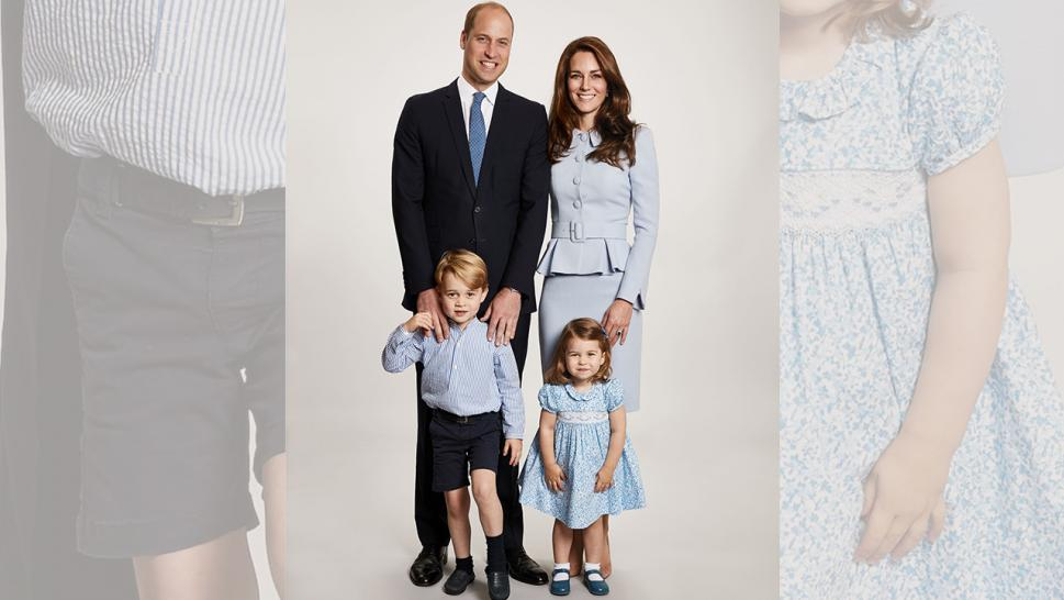 Prince William, Kate Middleton, Prince George and Princess Charlotte pose in their annual Christmas portrait.