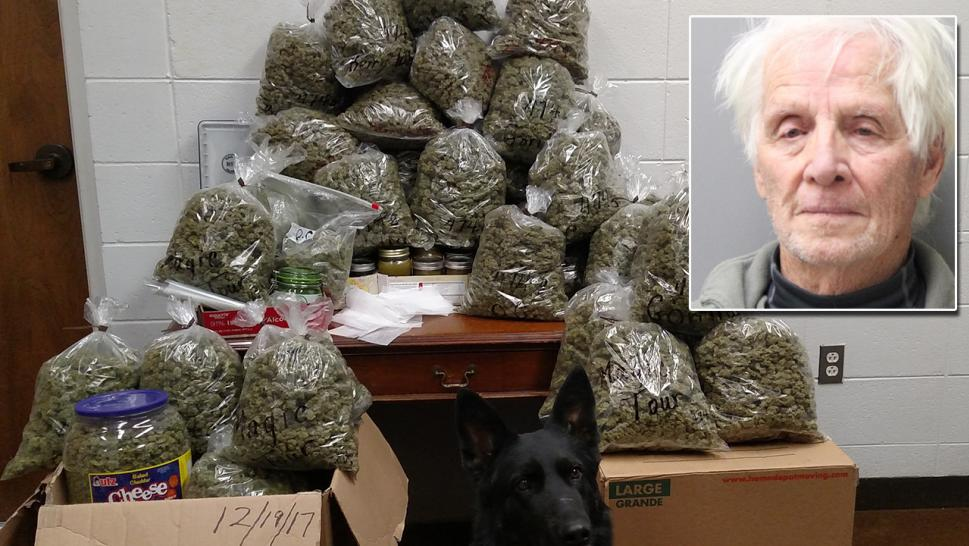 Elderly couple says 60 pounds of pot was for Christmas presents