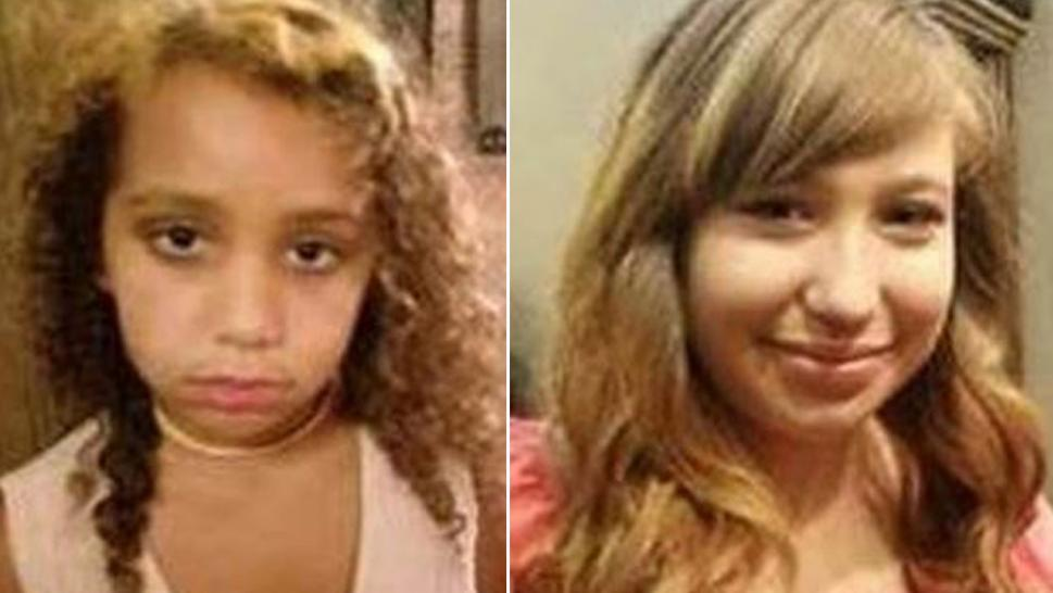 Police are searching for two sisters who disappeared. Their mother was found dead.