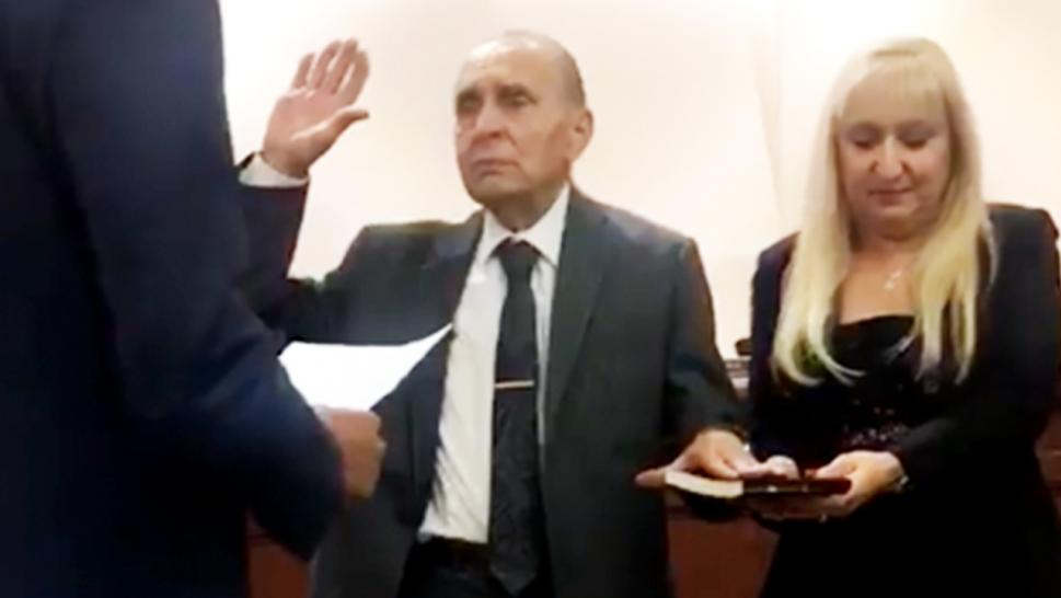 Vito Perillo, 93, was sworn in Tuesday evening as the new mayor of Tinton Falls, New Jersey.