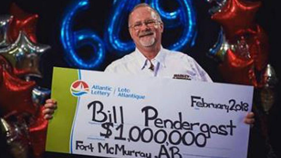 After losing home to fire, man wins $1 million lottery.