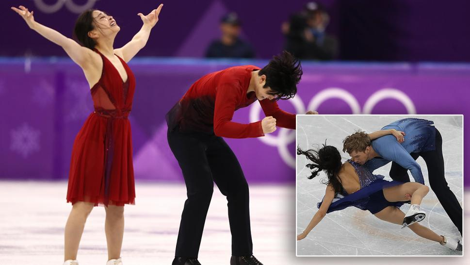 Maia and Alex Shibutani take home bronze while Madison Chock and Evan Bates take a disappointing tumble.