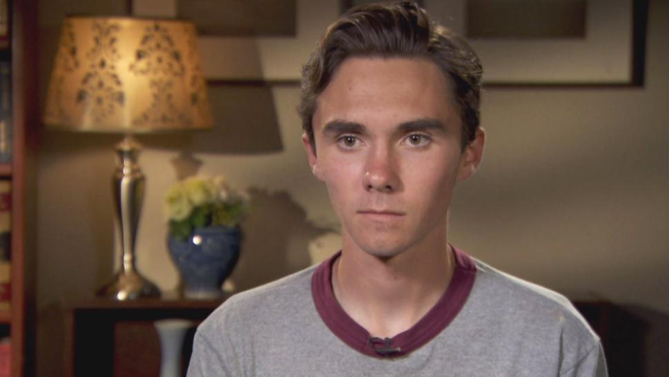 David Hogg said at a gun control rally in New Jersey that he won't go back until a bill is passed.