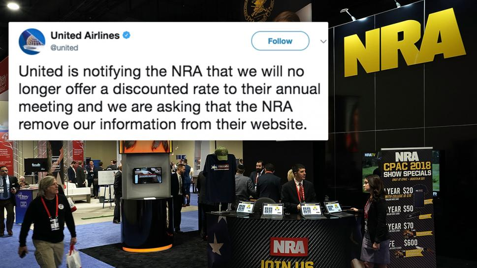 United Airlines is one of the many companies announcing they are cutting ties with the NRA.