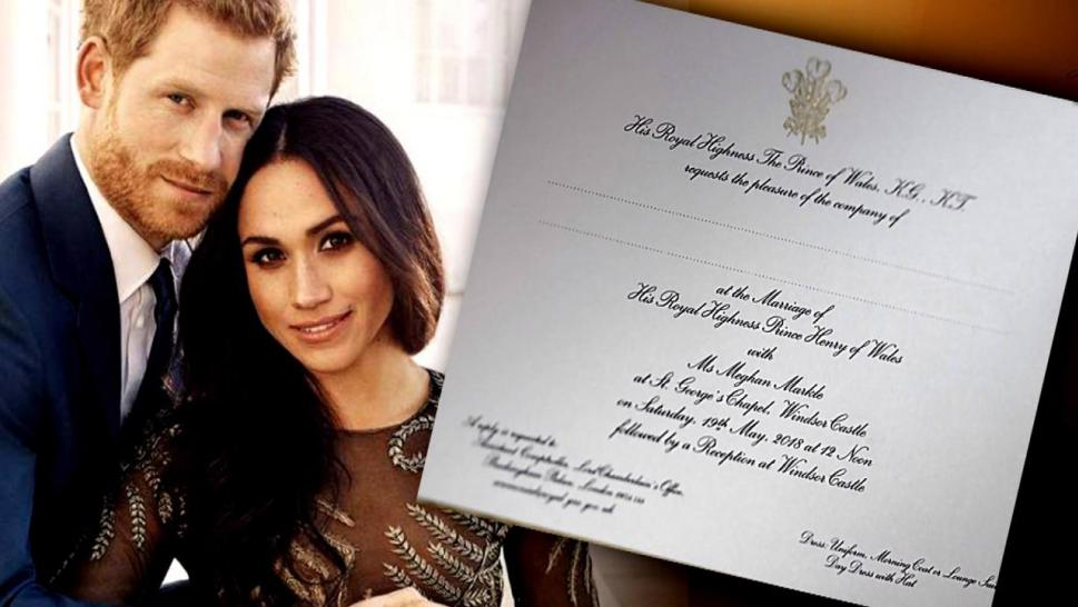 The royal invites are out.