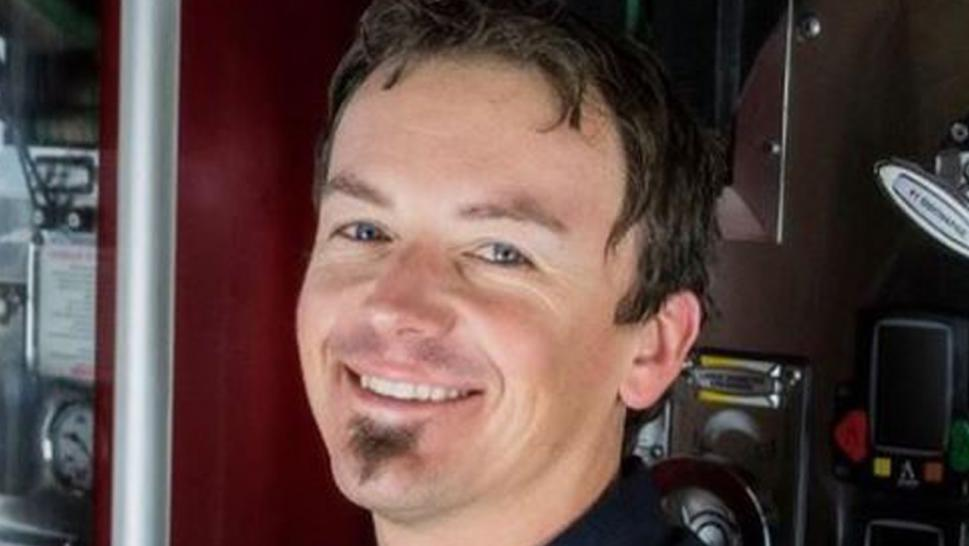 Rhett Larson was remembered as a dedicated firefighter and loving father.