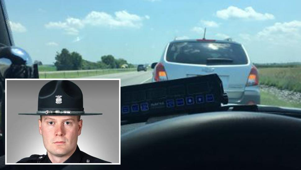 Sgt. Stephen Wheeles pulls over slow poke, becomes national hero.
