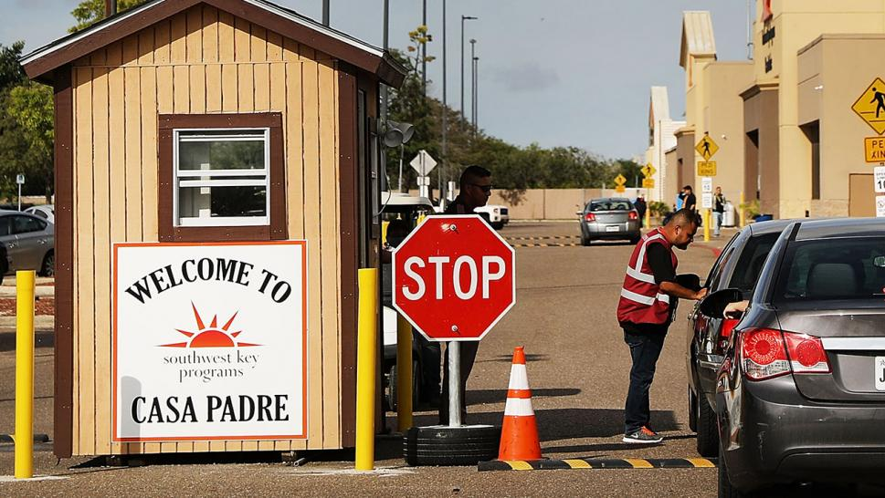 Casa Padre, a former Walmart which is now a center for unaccompanied immigrant children.