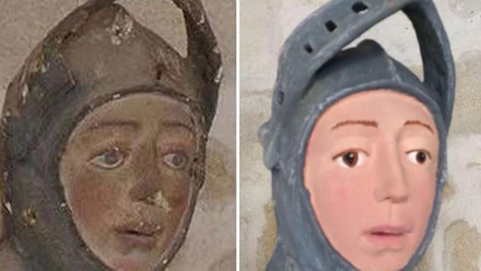 The effort to restore a 500-year-old artifact in the Spanish town of Estella didn't go so well.