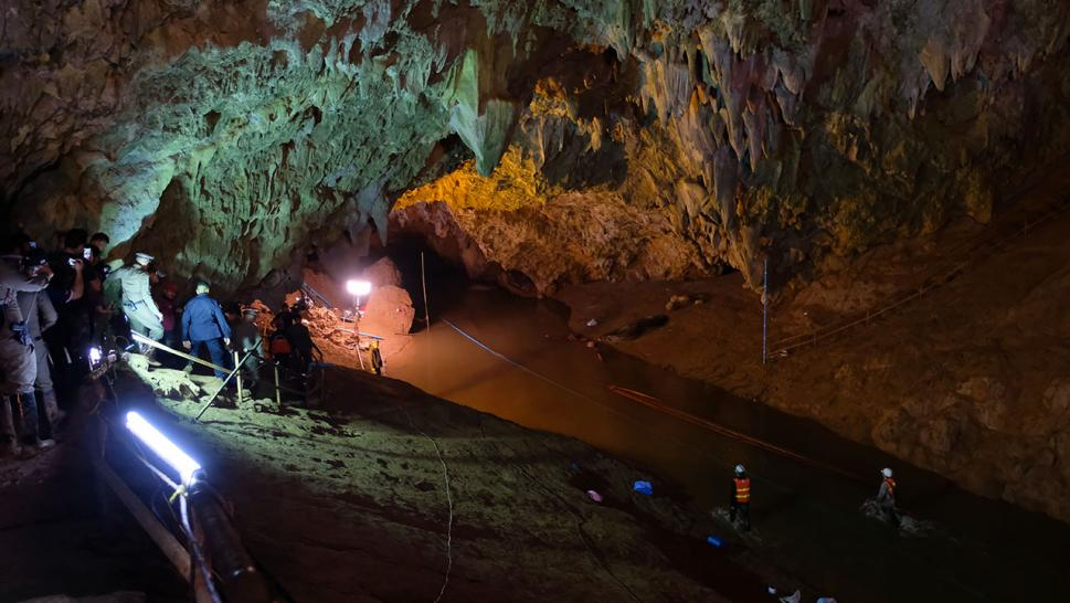 The boys have been stranded deep underground in the Thuam Luang cave complex since June 23.