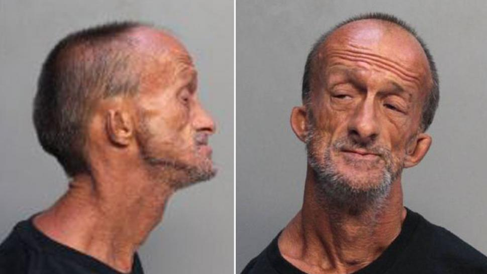 Homeless Florida man with no arms stabbed a tourist, police said.