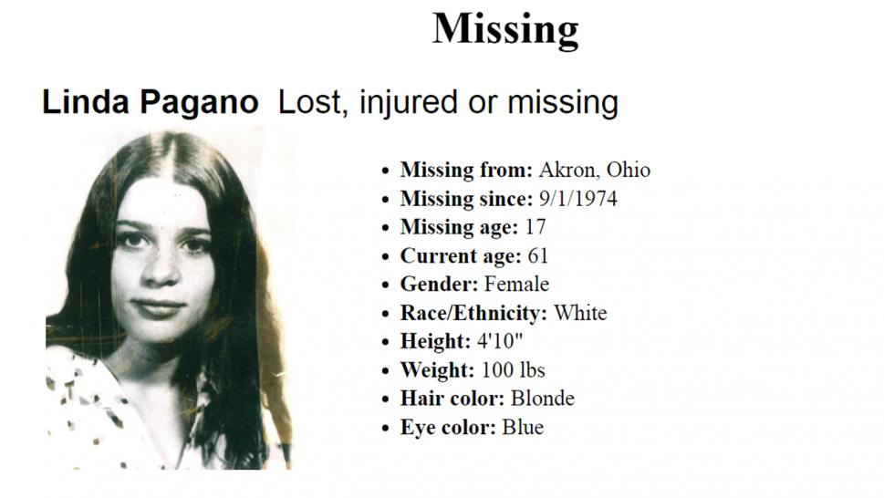 Linda Pagano Remains Found In 1975 Identified As Missing Ohio Girl