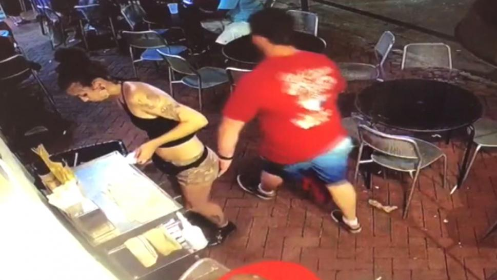 This customer grabbed a waitress's butt and got exactly what he deserved