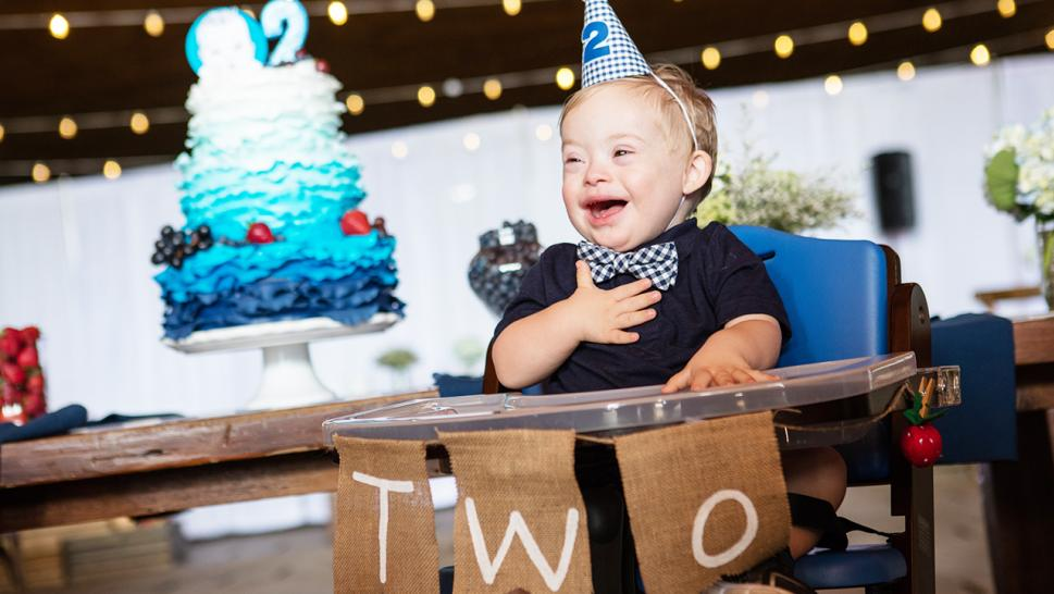 Lucas celebrates turning 2 years old.