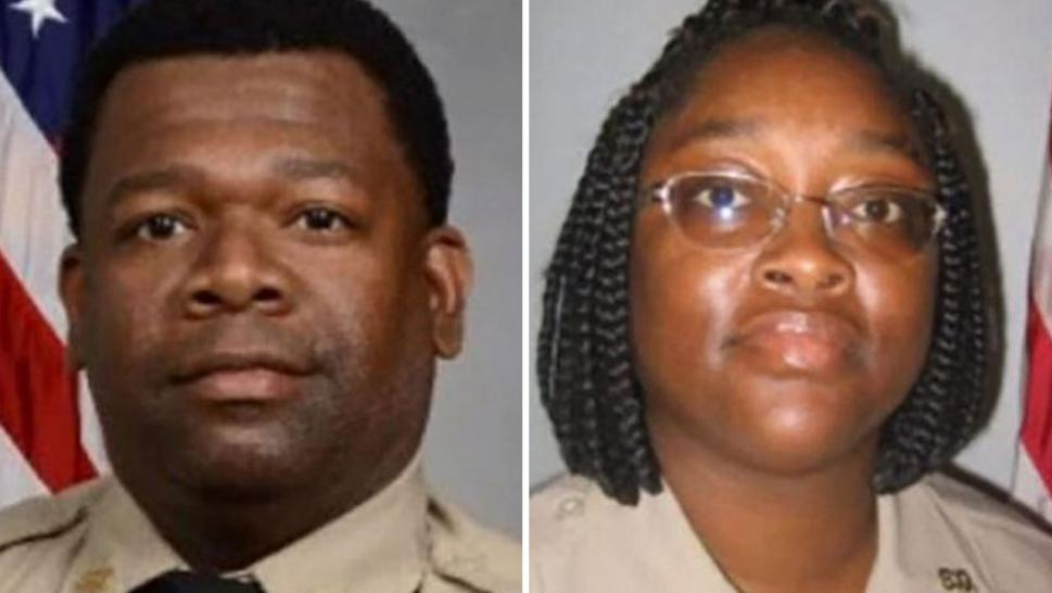 Martelle Davis, 36, and Shawana Davis, 31, who are married and both work for the Crisp County Sheriff's office, were taken into custody when they got off their flight to Cancun on Thursday, Sheriff Billy Hancock said.