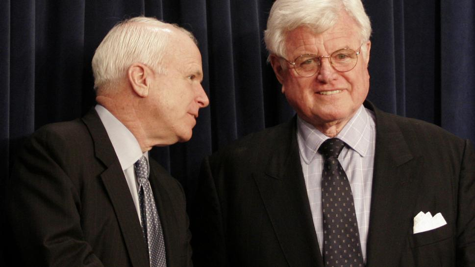 John McCain and Ted Kennedy