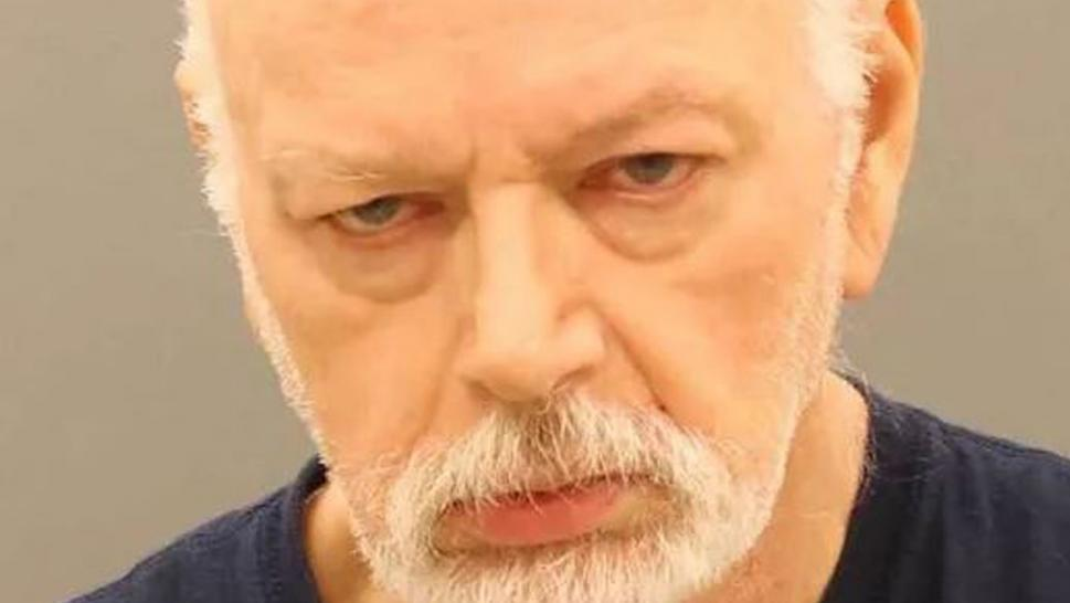 Walter Wolford, 66, is accused of yanking the 8-foot-long nylon leash hard enough to cause his wife's head to snap back and leave red marks around her throat.