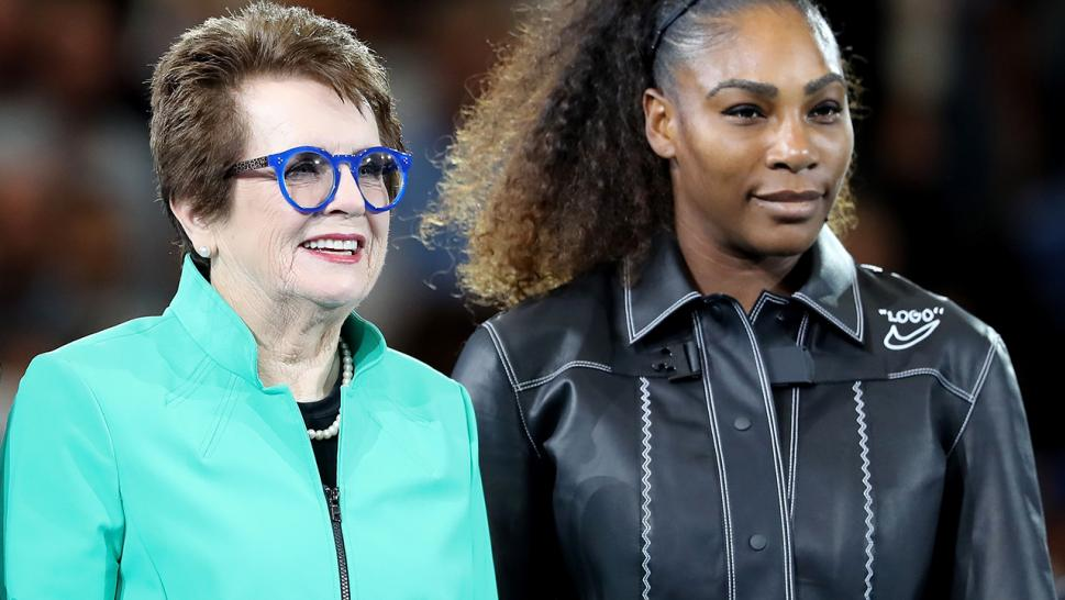 Billie Jean King and Serena Williams