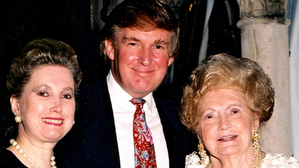 Donald Trump Poses with His Sister, left, and Mother, right.