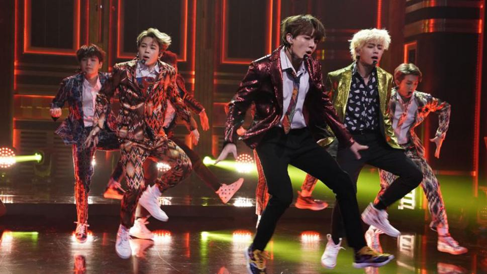 "BTS appearing this year on the ""Jimmy Fallon"" show."