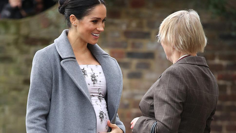 Meghan Markle arrives at care home