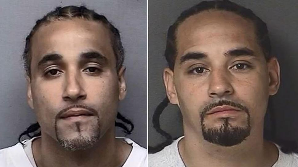 Richard Jones (left) was convicted in a crime authorities now believe was committed by Ricky Lee Amos (right).