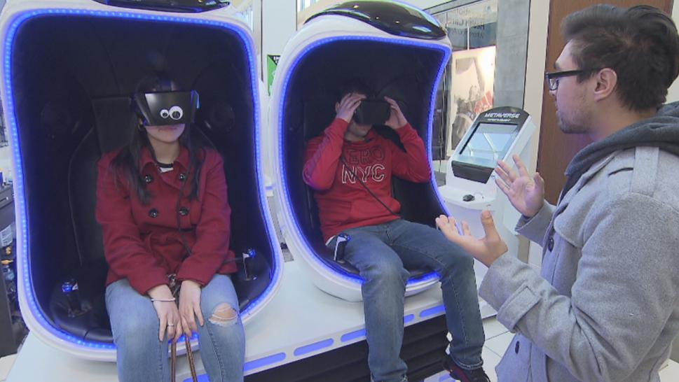 A virtual reality ride by The Void.
