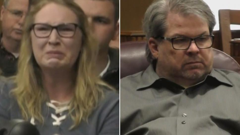 Jason Dalton (right), 48, pleaded guilty to charges stemming from the rampage that killed six people in Kalamazoo, Michigan, in February 2016 in shootings at three different locations. Emily Lemmer's father and brother were among the victims.