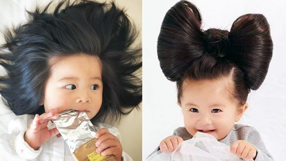Baby Chanco makes waves on Instagram for her full head of hair.