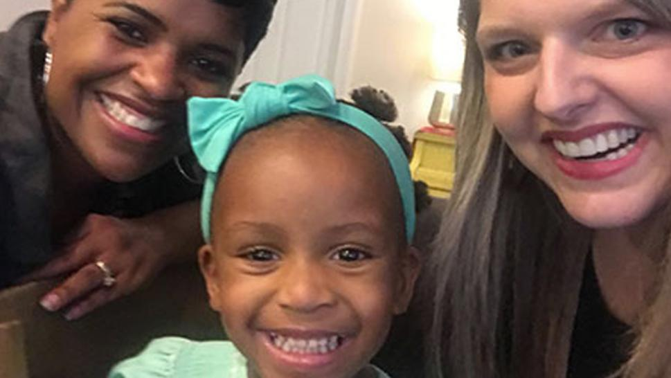 Stephanie Hollifield was more than grateful when Monica Hunter stepped up to help with her adopted daughter's hair.