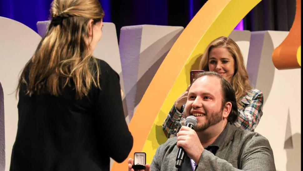 Drama took center stage with a surprise proposal at New York's BroadwayCon.